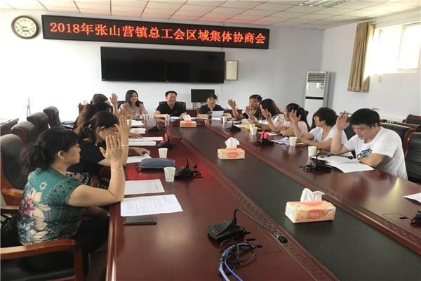 张山营镇总工会召开区域集体协商会